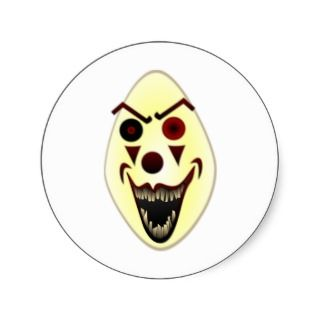 Evil Clown #2 Round Sticker