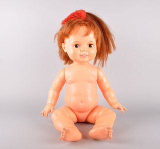 1972 Ideal Baby Crissy 22 Vinyl Redhead Baby Doll Grows Hair
