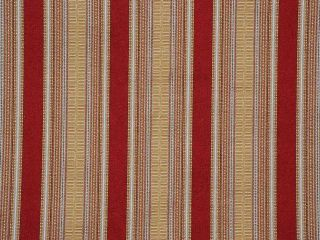 Gold Red Stripe Woven Drapery Upholstery Fabric 2 75 Y