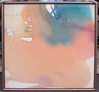 Nanci Blair Closson Peach Melba Original Abstract Acrylic Painting