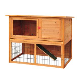New Pet Bunny Cage Wooden Rabbit House Wood Hen Chicken Coop Hutch Box