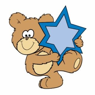 cute hanukkah teddy bear holding star of david acrylic cut out
