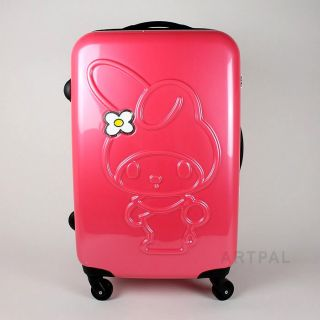 New Sanrio My Melody Travel Bag Cute 22in Zipper Suitcase Bag Rose