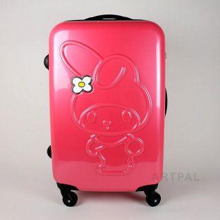 New Sanrio My Melody Travel Bag Cute 22in Zipper Suitcase Bag Rose