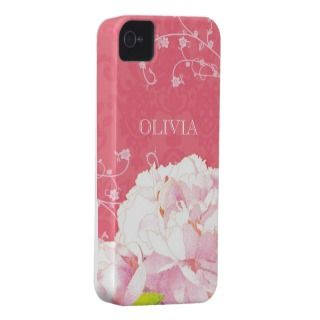 Damask Peony iPhone 4/4S Case Mate Barely There iPhone 4 Case Mate