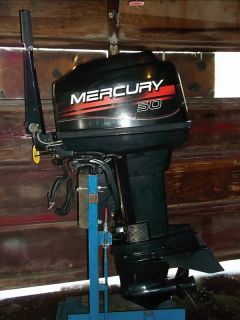 ... 1996 Mercury 50 HP Outboard Motor 40 Tiller Water Ready Clean Boat ...