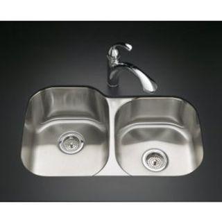 31 x 20 Undermount Double Bowl Stainless Steel Kitchen Sink