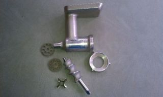 Vintage Metal KitchenAid Hobart Food Meat Grinder Attachment