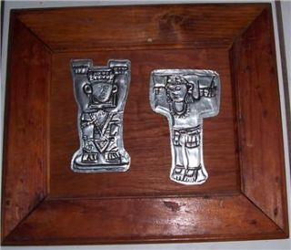 Aluminum Metal Native Yucatan Mexico Latino Wood Framed Art