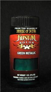 House of Kolor Green Metallic Kustom Airbrush Paint Auto Art Hobby