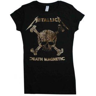 Metallica Death Magnetic Mosaic Skulls Babydoll Shirt s M L XL T Shirt