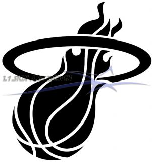 Miami Heat Vinyl Sticker Decal Any Color 5 5 Lebron Wade Bosh Car