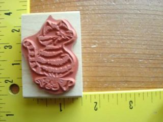 New Striped Kitty Cat Balloon by Eureka Stamps Rubber Stamp