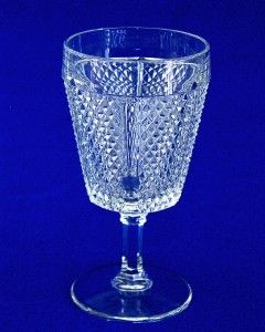 Pieces of Fostoria Glass Panelled Diamond Point (Water Wine Sherbet