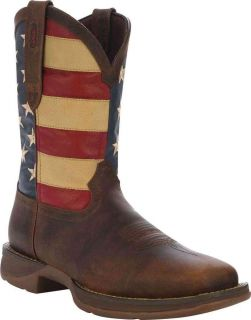 Durango DB5554 Mens Rebel Patriotic Dark Brown Western Boot