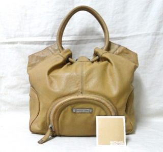 Authentic Michael Kors Leather Large Astor Ring Grommet Hobo Bag Tote