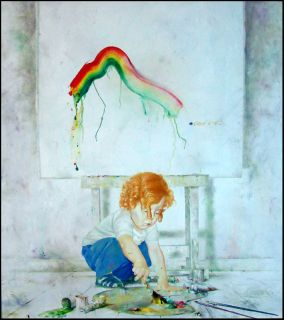 Michael Gorban Art Student Original Oil Painting on Canvas, Child
