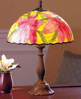 Asian Lily Flower Design Tiffany Style Desk Lamp New