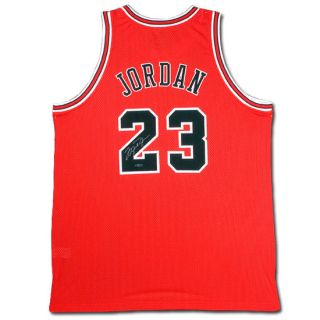 Michael Jordan Autographed Signed Chicago Bulls Red Jersey Upper Deck