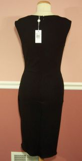 Michael Kors Sleeveless V Neck Ruched Black Dress Size 12
