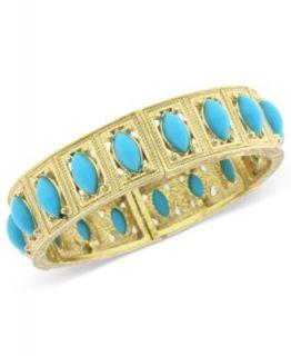 Charter Club Bracelet, Gold Tone Glass Bead Torsade Bracelet   Fashion