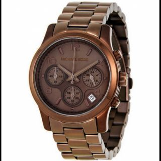 Michael Kors Brown Tone Stainless Ladies Watch MK5492 New Low Inter