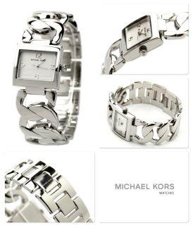 Michael Kors MK3023 Silver Dial Stainless Steel Chunky Chain Bracelet