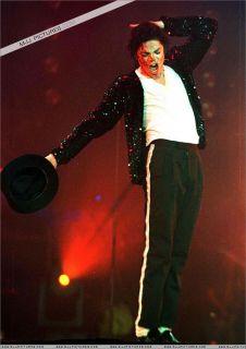 Classic Michael Jackson Small V Collar White T Shirt