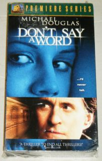 WORD SEALED VHS MOVIE, 20th Century Fox 2001   With Michael Douglas