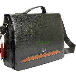 Mens Leather Shoulder Messenger Briefcase Bag Black #034 US High