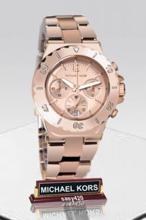 Michael Kors MK5499 Chronograph Rose Gold Tone Women Watch New