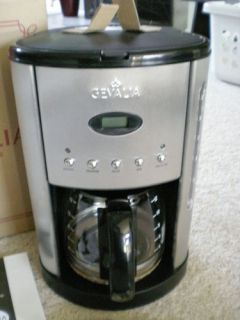 Gevalia Coffee Maker For Two Instructions : Gevalia 12 Cup Black Stainless Steel Coffee Maker CM500 G70