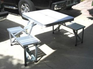 Indoor Outdoor Folding Picnic Table New Open Box Display Model