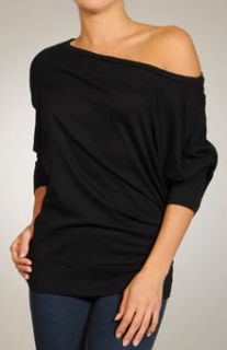 Michael Stars Slub 3 4 Dolman Slv Wide Neck Shirt s XL Style 6178 $69
