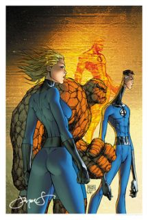 MICHAEL TURNER FANTASTIC FOUR #550 LIMITED EDITION PRINT SIGNED