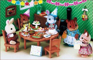 Japanese Sylvanian Family Birthday Dinner Party Set