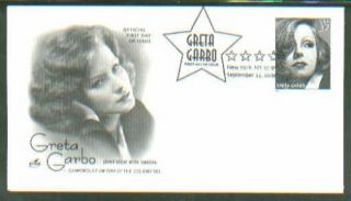 2005 Greta Garbo Actress Hollywood Movies Art Craft FDC