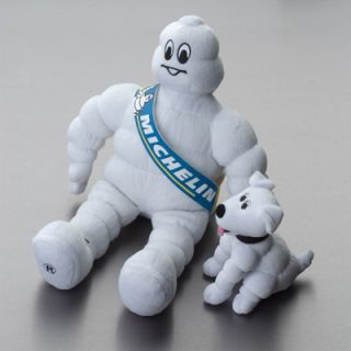 Michelin Man Plush Figure with His Dog
