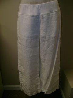 Eileen Fisher Organic Linen Crop Cargo Pant White