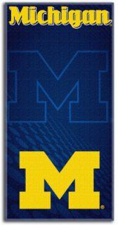 Michigan Wolverines NCAA College Emblem Series Bath or Beach Towel