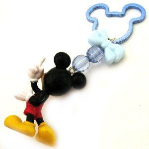 Disney Mickey Mouse Full Figure PVC Beaded Key Ring