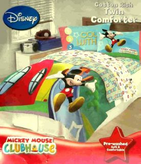Disney Mickey Mouse 123 Twin Full Size Comforter Bedding New