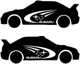 Subaru STI Impreza WRX Car Rally Graphic Decal Sticker