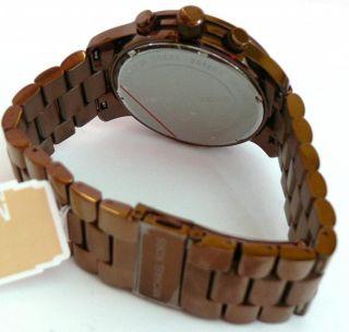 Mens Brown Michael Kors Runway Chronograph Watch MK8204 New in Box