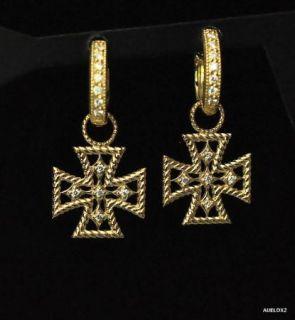 Zasha by Jude Frances Maltese Cross Earring Charms