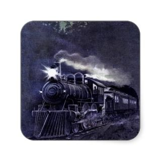 Magical Steam Engine Victorian Train Stickers