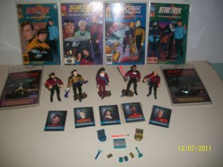 Vintage Star Trek Action Figures Comic Books Trading Cards Talking
