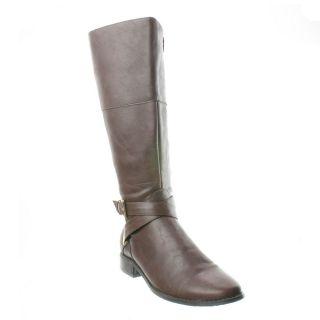 Karen Scott Paige Knee High Riding Boot Brown Size 9 5 New