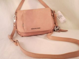 Michael Kors Bowen Blush Leather Convertible Shoulder Bag $298