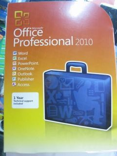 Microsoft Office Professional 2010 Full Retail New with DVD